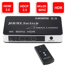 Mini HDMI 2.0 Switch HDR HDCP 2.2 3×1 5×1 HDMI Switch 2.0 4K HDMI Switch HUB Box 3 / 5 Port HDMI Switch Switcher 4K for PS4 Pro