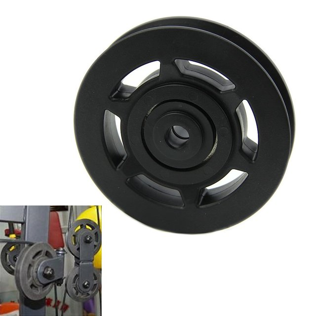 JHO-95mm Black Bearing Pulley Wheel Cable Gym Equipment Part Wearproof