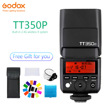 Godox Mini TT350 TT350P Speedlite flash TTL HSS 1/8000s 2.4G Wireless Camera photography for Pentax K70 K-3II K-1 KP K-50 K-S2