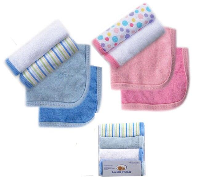 d0dd4f4b33 Luvable Friends Baby Bath Towel 4pcs lot Kit Soft Baby Newborn Children Bath  Towels Washcloth for Bathing Feeding