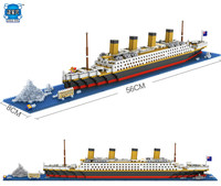 The Titanic Ship 3D Building Blocks Toy Titanic Boat 3D Model Educational Gift Toys For Children
