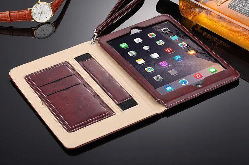 Luxury Leather Case For iPad Air 2 Air 2 Hand Holder Strap Business Book Cover For Apple ipad 2017 2018 Smart Protective Case (5)