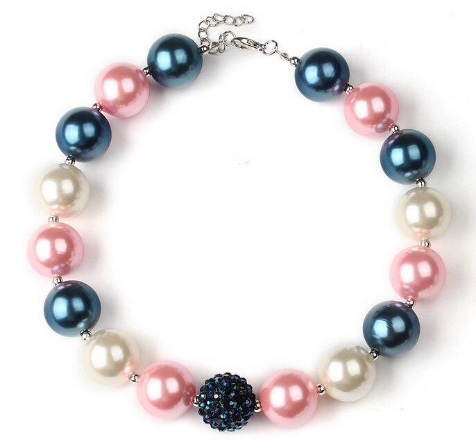 462fcd9dd704 Niñas rosado lindo 20mm perla chunky collar Bubblegum Kids bebé cumpleaños  magnífico regalos trajes collar envío de la gota