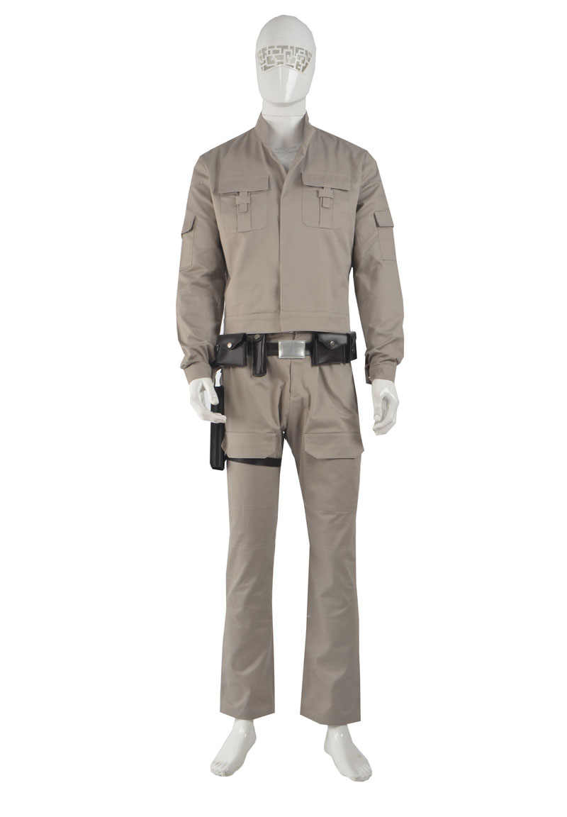Adult  Star Wars Luke Skywalker Jedi Cosplay Costume Custom Made full set COS