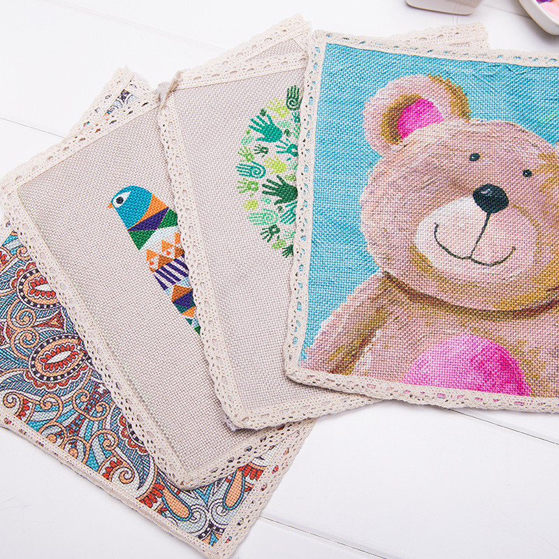 Cotton Cloth Mats Coaster Novelty Cup Cushion Holder Home Dining Room Decor Drink Placement Mat Cup Mats Hot Sale