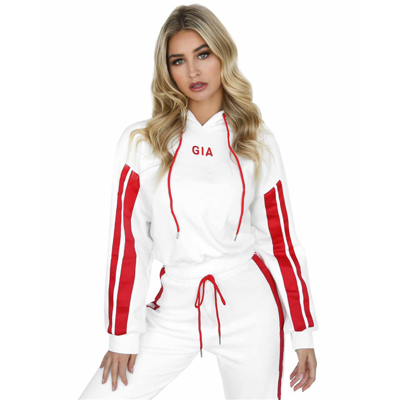 2018 Sportwear Female Womens Set Suit Sexy GIA Tracksuit For Women Hooded Hoodies+Long Pants Brand Costumes 2 Piece Set ...
