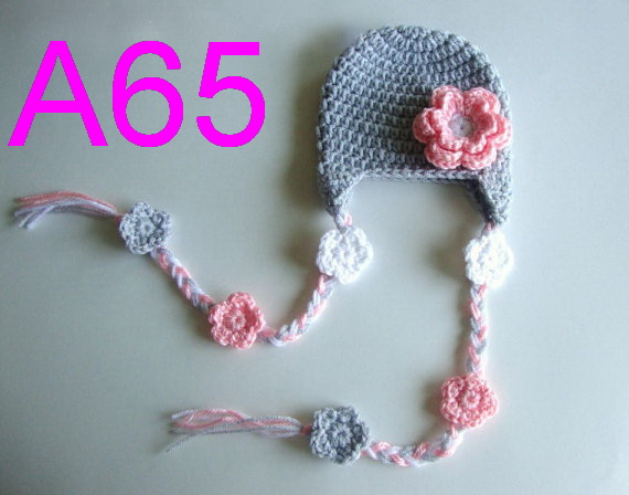 frete gratis 10 pcs chapeu do bebe chapeu bonito das criancas handmade crochet chapeu de flores