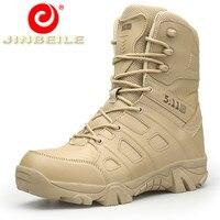 JINBEILE New Arrival High Quality Hiking Shoes Men Wear Resistant Men Sneakers High Waterproof PU Upper Outdoor Sports Shoes Men
