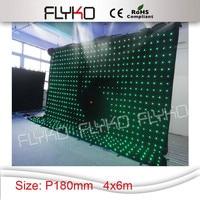 P18 4x6 m kurtyna LED ekran etap tle ekran ścienny w Oświetlenie sceniczne od Lampy i oświetlenie na