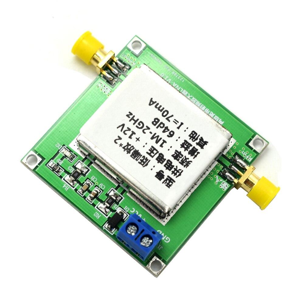 Lusya 0 1-2GHz 64dB Gain RF Broadband Amplifier Board Low Noise Amplifier  LNA Module F1-007