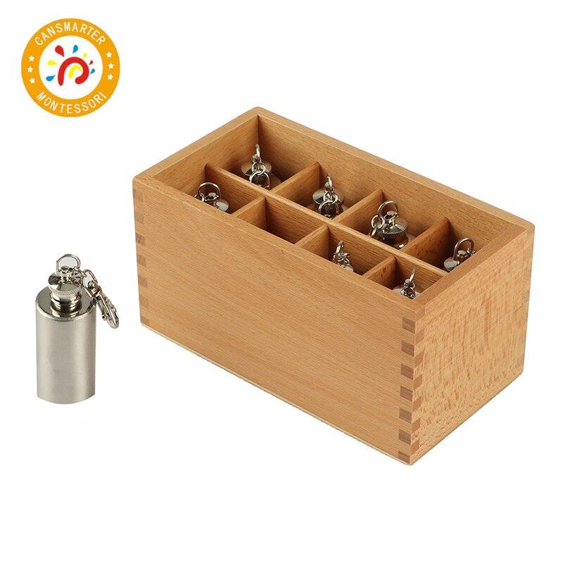Montessori Bébé Jouet Bouteilles Thermiques Sensorielles de La Petite Enfance L'éducation Préscolaire Enfants Montessori jouets en bois éducatifs SE026