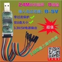 USB Saleae Logic Analyzer Microcontroller ARM FPGA Debugging Tool 24M Sampling 8 Channels