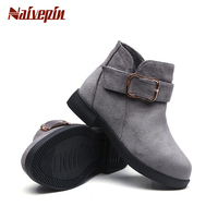 Fashion Girls Martin Boots For Spring Autumn Winter Kids Children PU Leather Boots Baby Girls Shoes