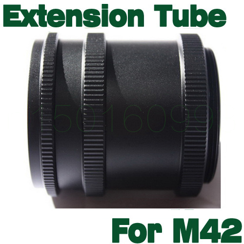 <font><b>M42</b></font> Metal Macro Extension <font><b>Tube</b></font> 3 Ring L8D Set Adapter For <font><b>M42</b></font> 42mm Screw Mount Digital SLR Camera Lens image