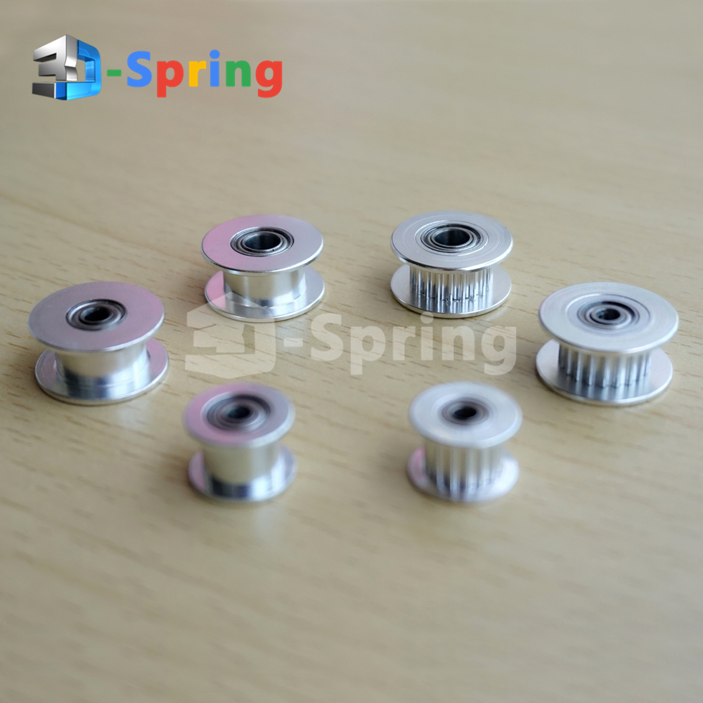 Hot Sale 2gt Gt2 Aluminum Timing Belt Idler Pulley 16 20 Teeth Tooth Product 3mm 4mm 5mm Bore For 3d Printer 6mm Width