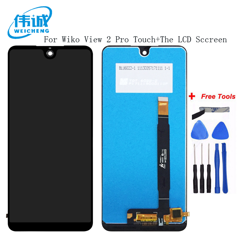 WEICHENG For Wiko View 2 Pro LCD Display and Touch Screen Digitizer Assembly 6 Inch For Wiko View 2 Pro Mobile Phone AccessoriesWEICHENG For Wiko View 2 Pro LCD Display and Touch Screen Digitizer Assembly 6 Inch For Wiko View 2 Pro Mobile Phone Accessories