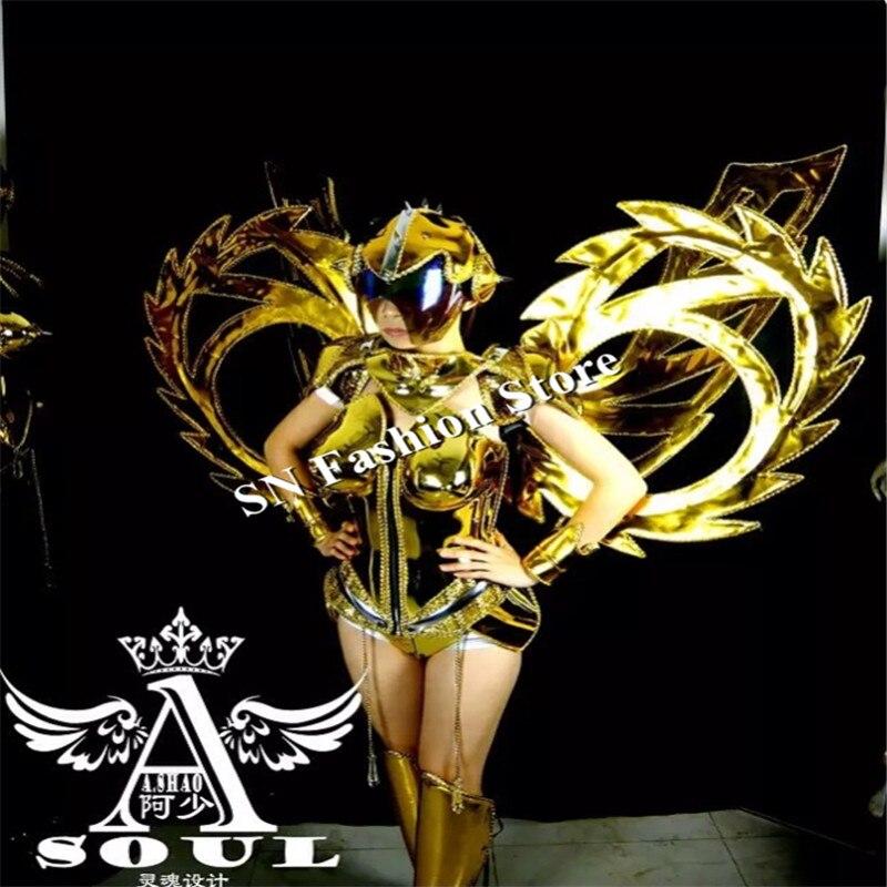 ES001 Vestido de baile de espejo dorado / disfraces / Ropa de alas de - Para fiestas y celebraciones - foto 2