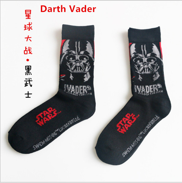 Star Wars Darth Vader Socks Knee-High Stockings Men Women Cosplay Cotton Calf Socks The Force Awakens Sports Socks