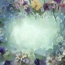 Floral fotografía telón de fondo vintage acuarela flores photobooth fondo para recién nacido Niño Studio foto backdrops D-6172