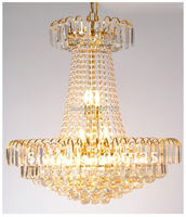 13 Vintage French Country Chic 3 Light Antique Gold Plug In Chandelier Crystal Accent Guaranteed100 Free