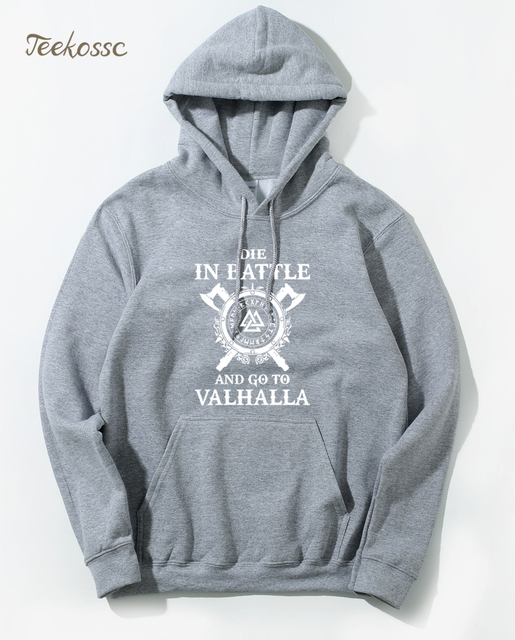 Odin Vikings Hoodie Men Die In Battle And Go To Valhalla Hoodies Mens 2018 Winter Son of Odin Viking Berserker Hooded Sweatshirt 4
