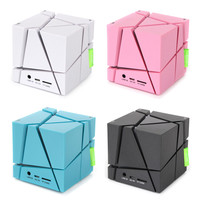 HIPERDEAL Mini Portable Sound Bar Cube LED Stereo Wireless Bluetooth Speaker for Smart Phone Tablet SY05