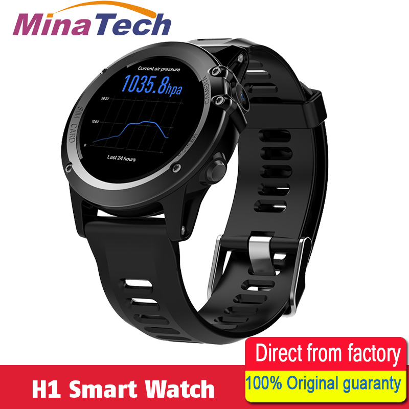 """Android 4.4 IP68 Waterproof H1 Smart Watch 1.39"""" MTK6572 BT 4.0 3G Wifi GPS SIM For iPhone Smartwatch Men Wearable Devices"""