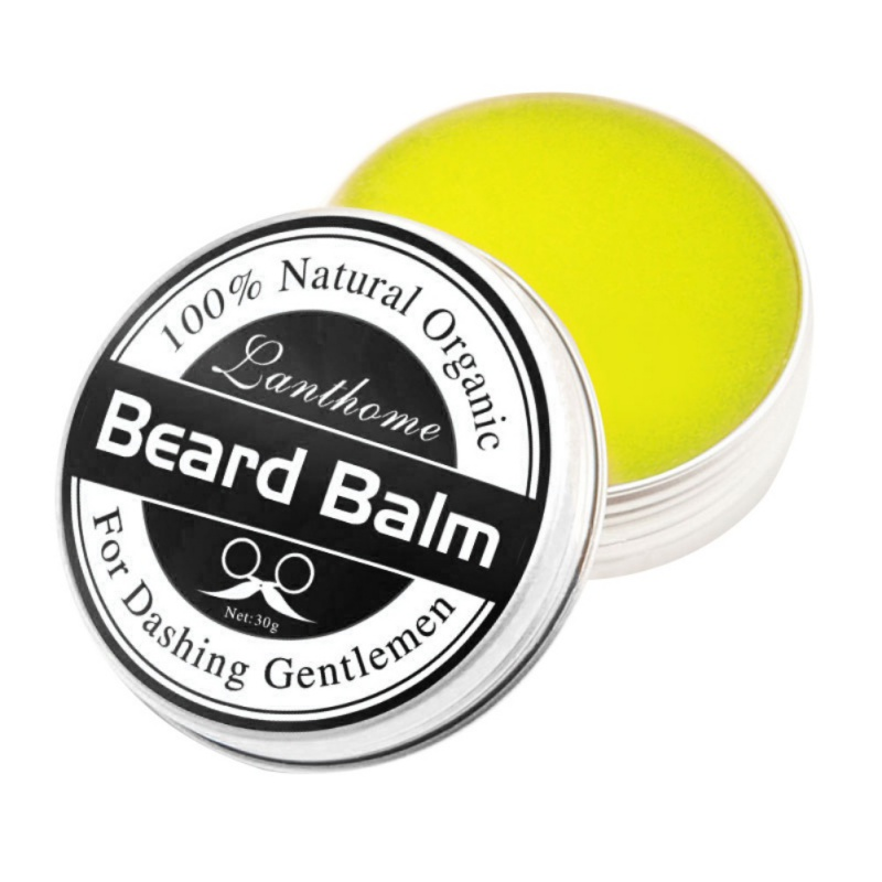 Beard Conditioner Leave Moisturizing Effect Beard Care New Lanthome Natural Men Beard Hair Wax Balm 30g/60g ...