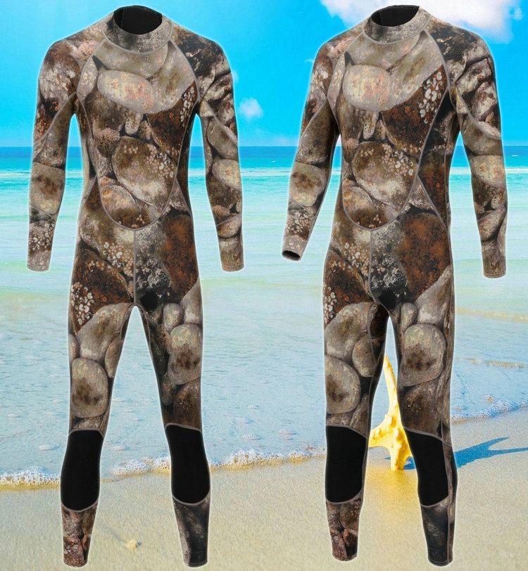 Men Camo Neoprene Zipper Wetsuits Swimsuit Full Body Jumpsuits Diving Suit RashGuard for Swimming Surfing Sucba Sports Clothing