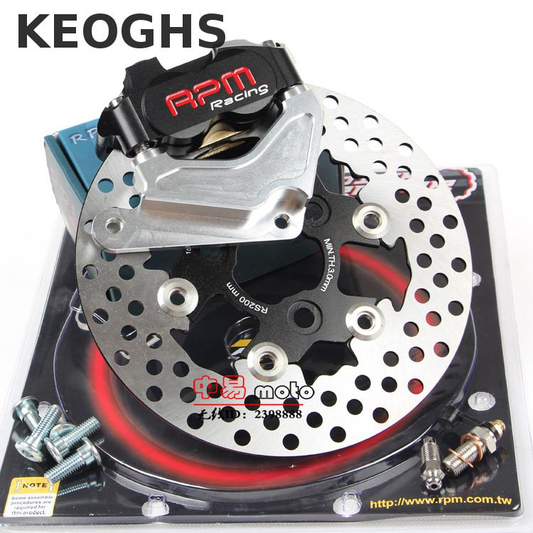 Keoghs Rpm Motorcycle Hydraulic Brake Caliper Disc System Set 200mm And 220mm Floating Disc For Honda Dio 18/27/28/zx34/35/36 keoghs motorcycle brake disc brake rotor floating 260mm 82mm diameter cnc for yamaha scooter bws cygnus front disc replace