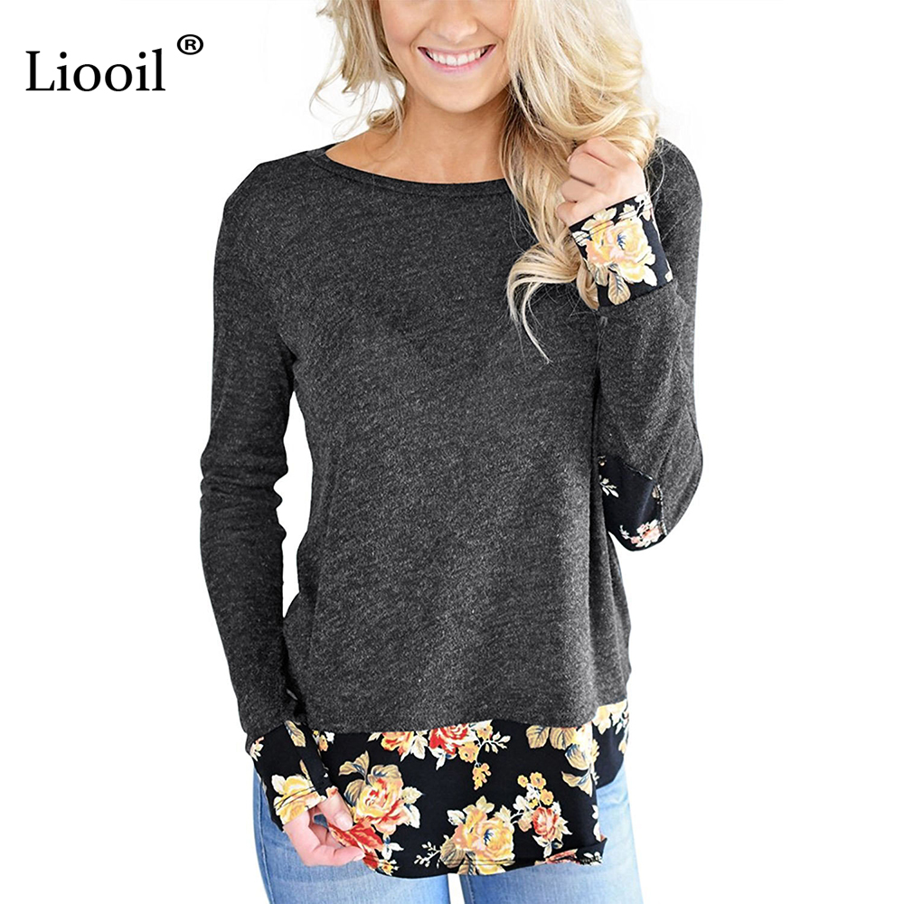 Szkzk Shirt Women 217 Autumn Winter Fashion Floral Prin Long Sleeve Women Tshirt New Year Womens Casual Clothing T Shirt Female