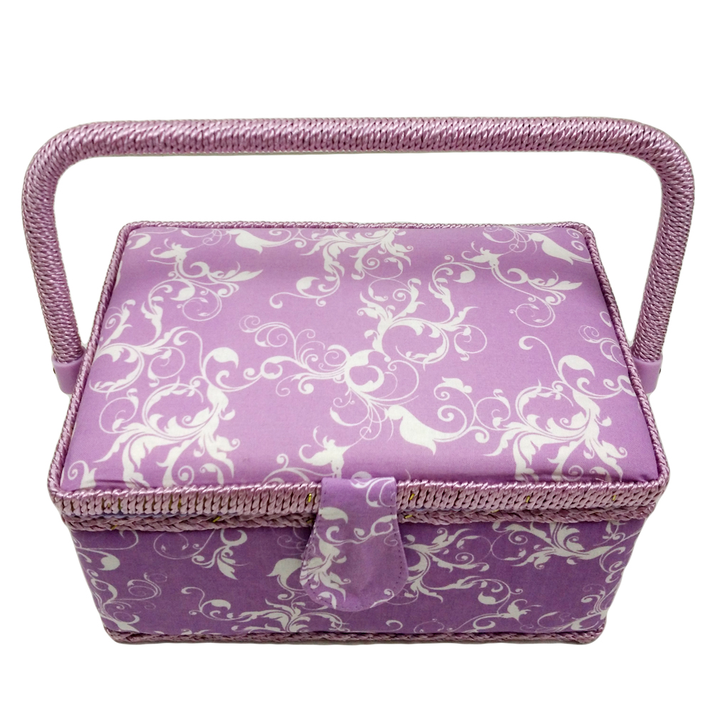 Handmade Fabric Storage Baskets : D storage basket handmade fabric covered sewing