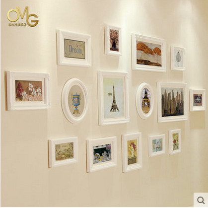 new arrival photo collage wall