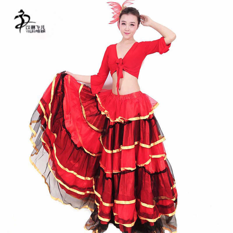ea7a03a89 Detail Feedback Questions about flamenco skirt Ladies Spanish Flamenco  Fancy Dress Dance Skirt Senorita Rumba Salsa Costume on Aliexpress.com |  alibaba ...