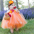 Halloween Girl Dress Orange Kids Tutu Dress Halloween Photo prop tutu Brown Baby Girls Clothing Halloween Costume