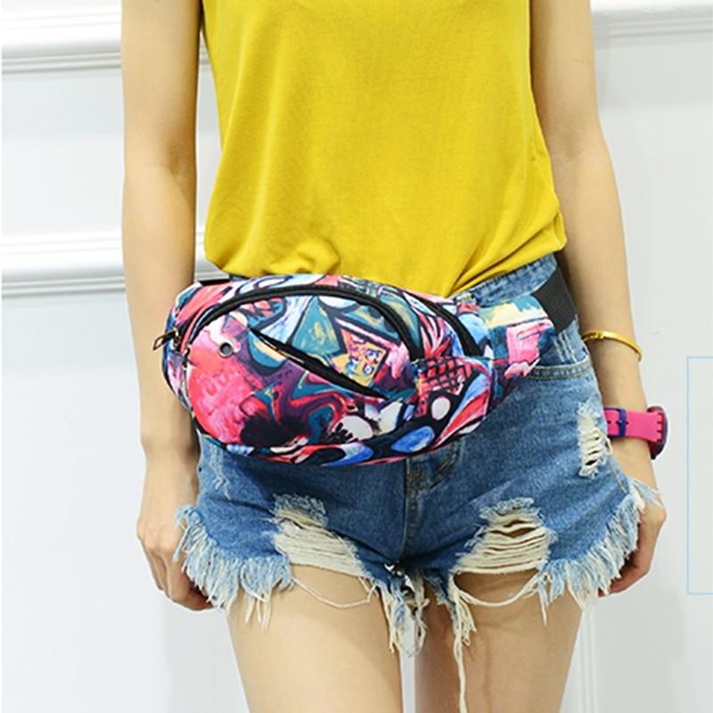 THINKTHENDO Fashion New Women Men Bum Bag Fanny Pack Waist Bag Multifunction Large Capacity Belt Bag 6 Color Top Quality