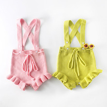 Fashion New Baby Girl Handmade Warm Wool Jumpsuit Autumn And Winter Models Casual Children