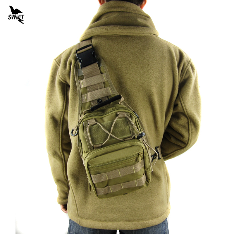 Hot Sale Outdoor Sports Nylon Tactical Military Sling Single Shoulder Chest Bag Pack Camping Hiking Backpack Molle Climbing Bag hot sale genuine lowepro nova 190 aw camera bag single shoulder bag case backpack with all weather cover