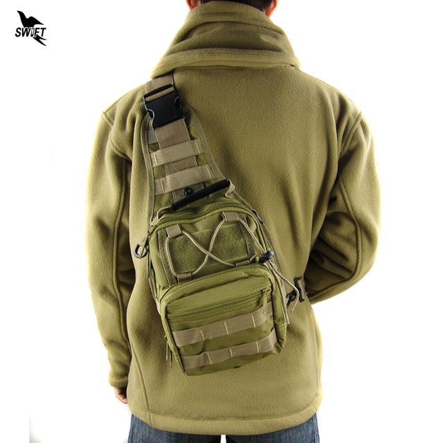 Hot Sale Outdoor Sports Nylon Tactical Military Sling Single Shoulder Chest Bag Pack Camping Hiking Backpack Molle Climbing Bag