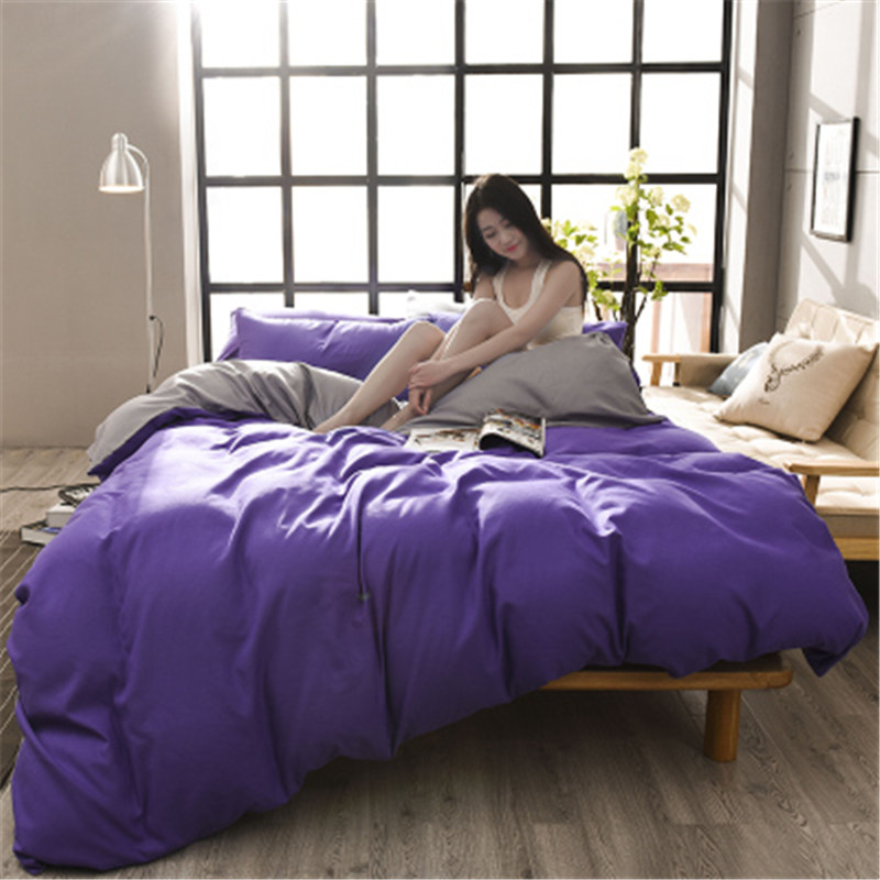 US $95.0 |2018 NEW Hot!!! Free Shipping Princess 4PCS Bedding Sets Candy  Color Bed Set Full King Queen Size bed linen bed sheet pillowcase-in  Bedding ...