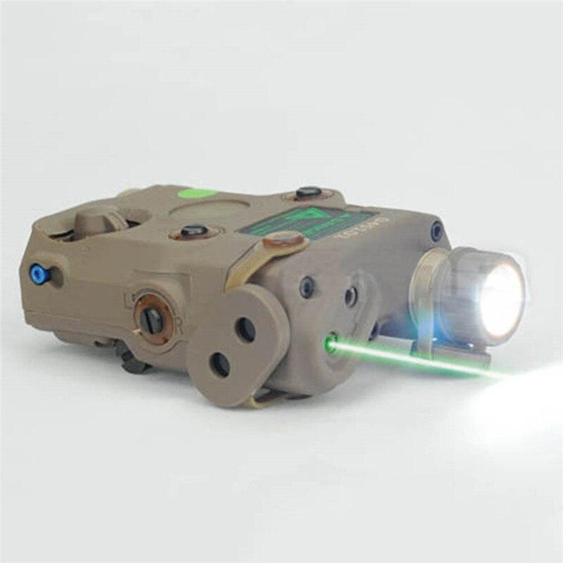 FMA Airsoft Tactical AN/PEQ-15 Green Dot Laser com Tocha Lanterna com LED Branco iluminador IR Para A Caça Ao Ar Livre