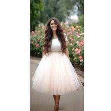 Best Quality 5 Layers Midi Tulle Skirt American Apparel Tutu Skirts Womens Petticoat Autumn faldas saia jupe