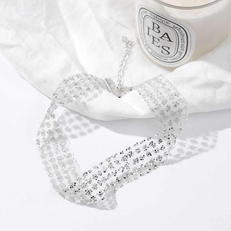 Sexy Sequin Choker Necklace Chunky Statement Bib Pendant Chain Necklace Jewelry