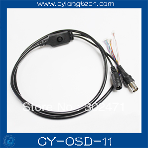 90CM OSD Cable with Power Port + Video Port + OSD Menu Port for CCD Board(Black) menu чаша black contour