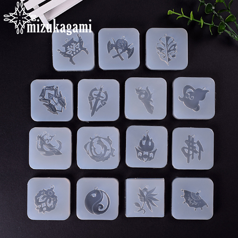 1pcs UV Resin Jewelry Liquid Silicone Mold Fan Silicone Mold Epoxy Jewelry Wings Resin Charms Molds For DIY Jewelry Making Molds