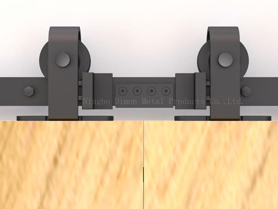 States 人気 Mushi カスタマイズスライディングドアハードウェア木製納屋のドアハードウェアホイールアメリカスタイルスライディングドアハードウェア 8