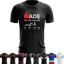70b447eb2 Sport Quick Dry Running Shirts Training T shirt Funny Men tshirt tee  Ironman Triathlon World Championships