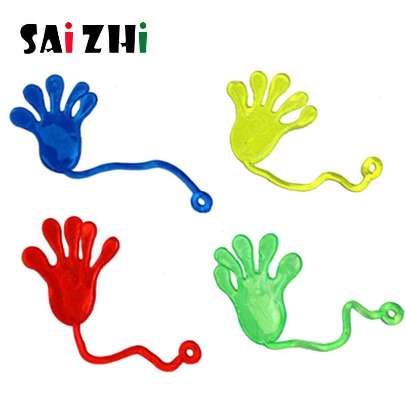 Saizhi 4Pcs Sticky Stretch Wacky Hands Classic Funny Kids Toy Nostalgic Wall Climbing Tool SZ2440