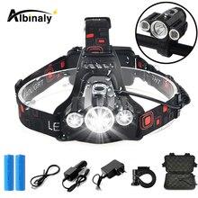 цена на Super bright bicycle light 4 lighting mode LED headlight waterproof bike light head lamp dual-use lamp using 18650 battery