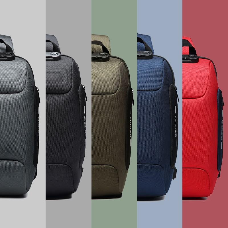 Multifunction Crossbody Bag for Men Anti-theft Shoulder Messenger Bags Waterproof 5